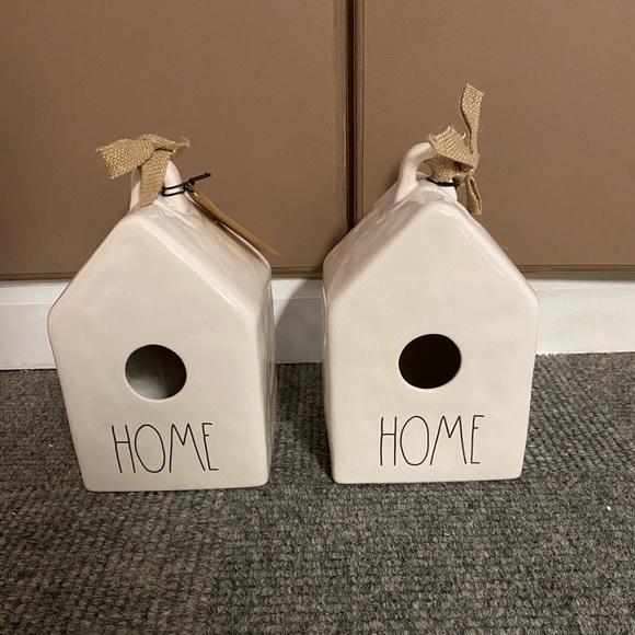 Rae Dunn bird houses set of two. NEW